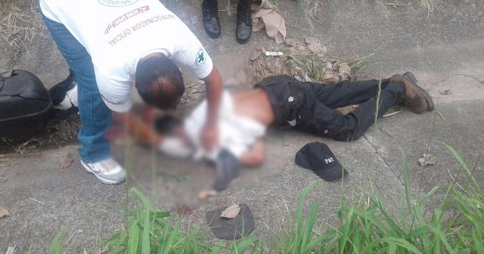 Un motociclista falleció, luego de accidentarse sobre carretera Comalapa, en La Paz