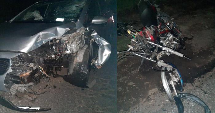 Motociclista pierde la vida en grave accidente sobre carretera a San Juan Opico
