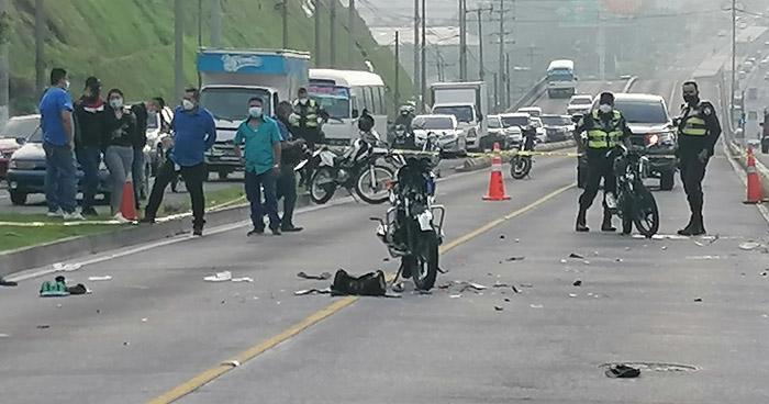 Motociclista fallecido y otro lesionado tras accidente de tránsito en Bulevar del Ejército