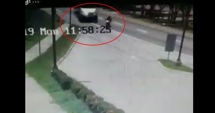 Motociclista se salva de ser arrollado por un camión pese a imprudencia en Bulevar Constitución
