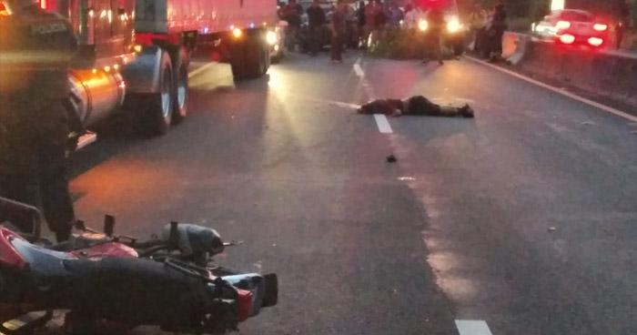 Motociclista pierde la vida tras accidentarse en carretera de Sonsonate