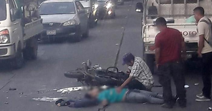 Motociclista fallecido en accidente de tránsito en carretera de San Miguel