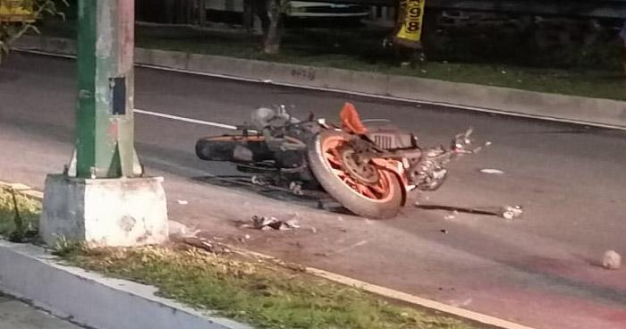 Motociclista pierde la vida tras accidentarse en Avenida Masferrer Norte