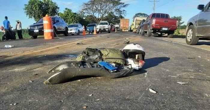 Motociclista fallecido tras accidente de tránsito en carretera de Usulután