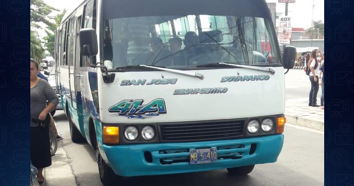 Detectan alcohol y cocaína a motorista de la ruta 41-A en Soyapango