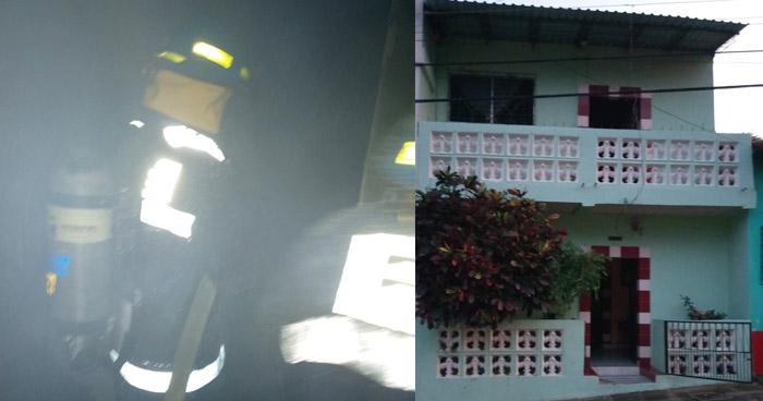 Joven muere en un incendio dentro de una vivienda en Ilobasco