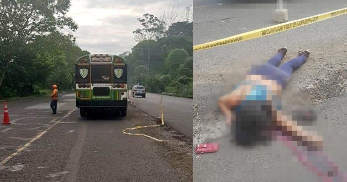 Conductor de autobús atropella y mata a una mujer por pelear vía en Sonsonate