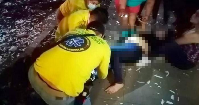 Mujer ebria lesionada tras caer del techo de su vivienda