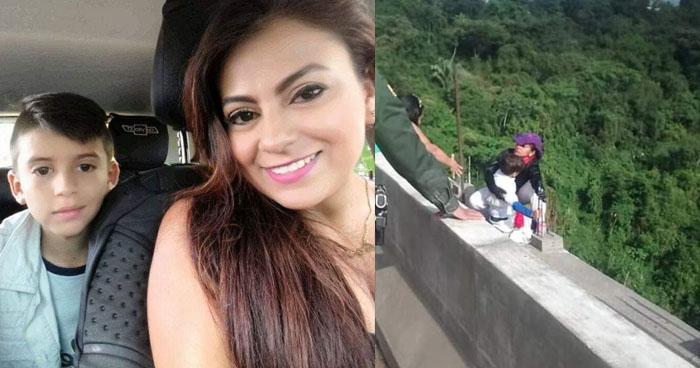 VIDEO   Mujer se lanza desde un puente junto a su hijo en Colombia