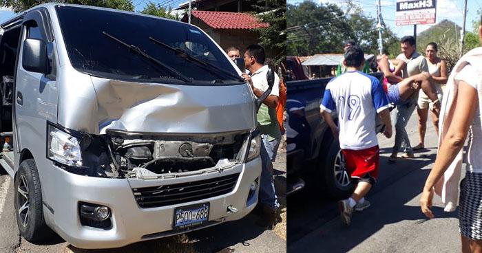 Nicaragüense gravemente lesionada luego de ser atropellada en carretera Ruta Militar
