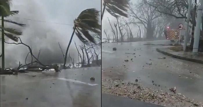 VIDEO | Así de fuerte el oleaje tras el paso del huracán Iota por la Isla de San Andrés