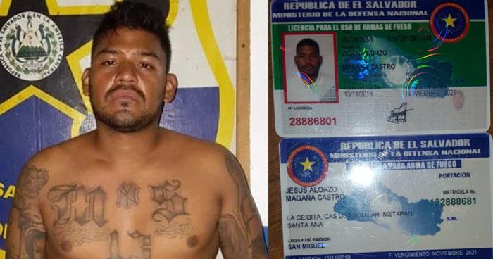 Capturan a otro pandillero que cuenta con licencia para portar armas de fuego