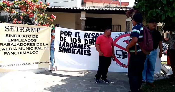 Trabajadores de la alcaldía de Panchimalco paralizaron labores este miércoles