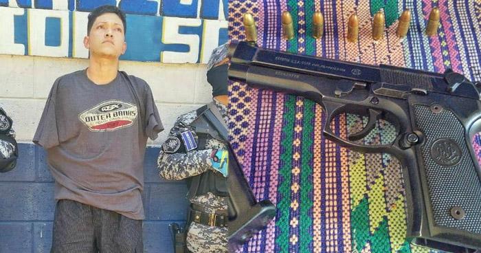 Capturan a pandillero armado que operaba en Sonsonate