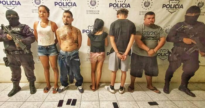 Capturan a cinco pandilleros que delinquían en San Miguel