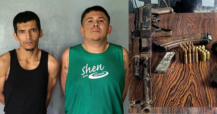 Capturan a pandilleros armados en Santa Elena, Usulután