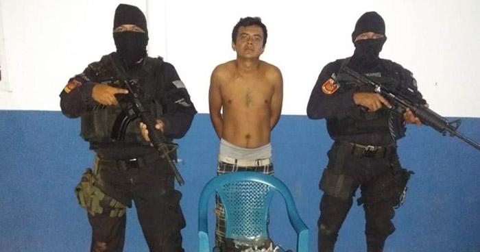 Capturan a pandillero MS con arma de fuego y droga en San Miguel