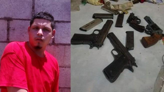 Captura a pandillero en Estanzuelas, Usulutan con 4 armas y abundante munición