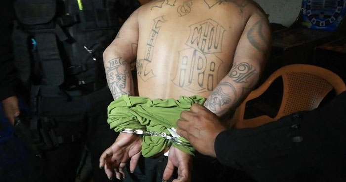 Pandillero salvadoreño capturado en Guatemala era buscado por posesión de drogas