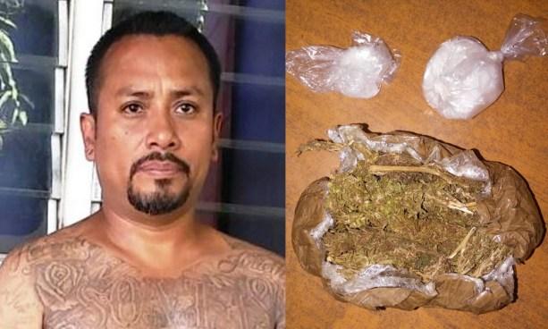"""Capturan al """"Daunner"""" pandillero que se dedicaba al tráfico de metanfetaminas en Sonsonate"""