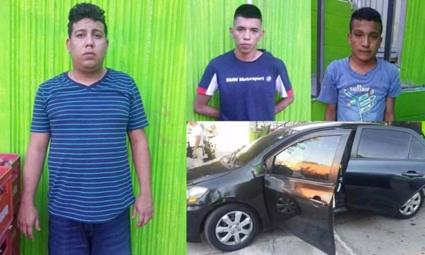 Tres sujetos capturados en San Salvador cuando recogía un paquete producto de extorsión