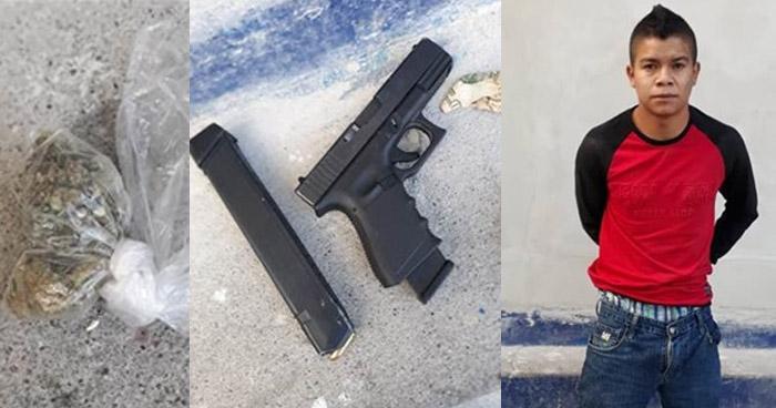 Capturan a un gatillero de una pandilla, armado y con droga, en Ciudad Delgado