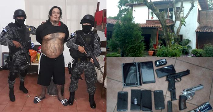 """Arrestan a """"El Smayling"""", peligroso pandillero que habitaba en lujosa residencia"""