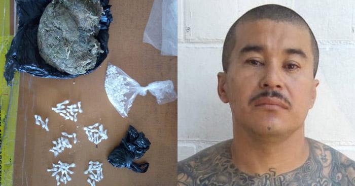 Peligroso pandillero capturado cuando transportaba droga en Quezaltepeque
