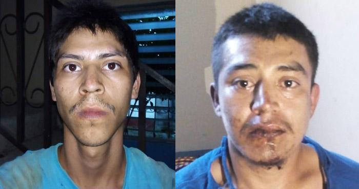 Pandilleros armados capturados en Estanzuelas, Usulután