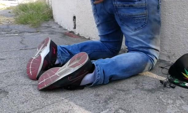 VIDEO   De esta forma tiembla un pandillero al ser capturado tras atacar a policías en San Salvador