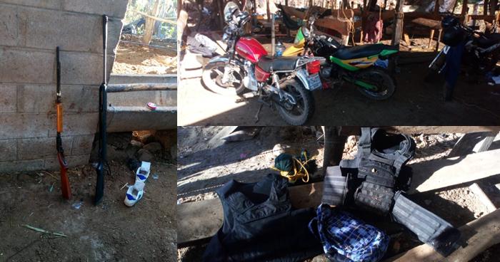 La PNC desmantelo campamento de pandilleros en Ciudad Barrios, San Miguel