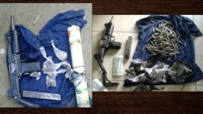 Capturan a dos pandilleros con una subametralladora, munición y droga en Chalchuapa