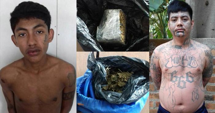 Caen dos pandilleros con droga, uno de ellos era buscado por provocar éxodo de familias, en La Paz