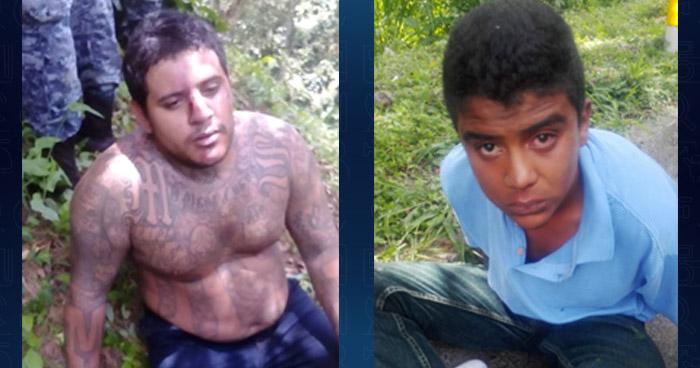 Interceptan y capturan a peligrosos pandilleros sobre autopista Los Chorros