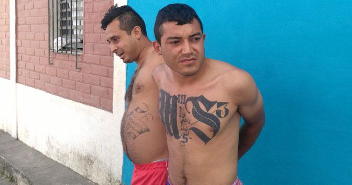 Capturan a dos palabreros de la MS tras operativo en comunidades de San Salvador