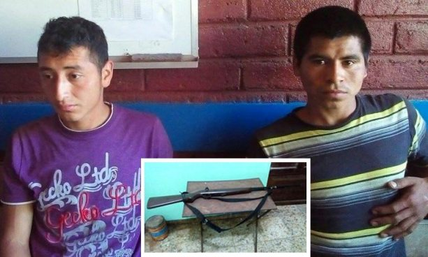 Capturan a dos miembros de pandillas con un rifle en Sonsonate