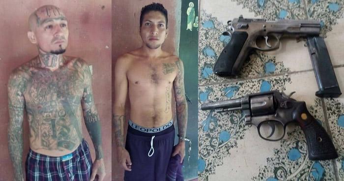 STO captura a dos peligrosos pandilleros que operaban en Cuscatlán