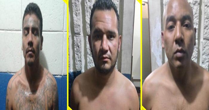 Tres pandilleros fueron arrestados cuando se transportaban en un vehículo robado