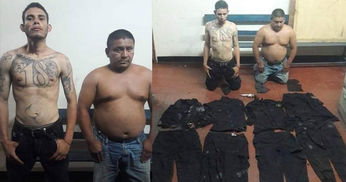 Pandilleros tenían en su poder cuatro uniformes policiales