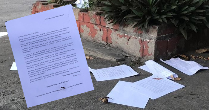 "Grupo denominado ""Cristianos Unidos por El Salvador"" tapiza San Salvador con propaganda contra Bukele"