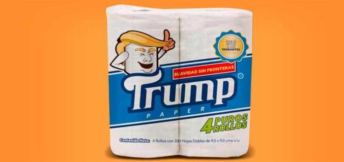 El nuevo papel higiénico Trump cuyas ganancias apoyarán a los inmigrantes mexicanos