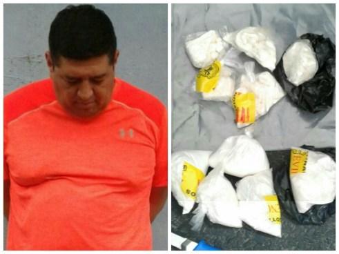 Detienen a narcotraficante con 1 kilo de cocaína en San Salvador