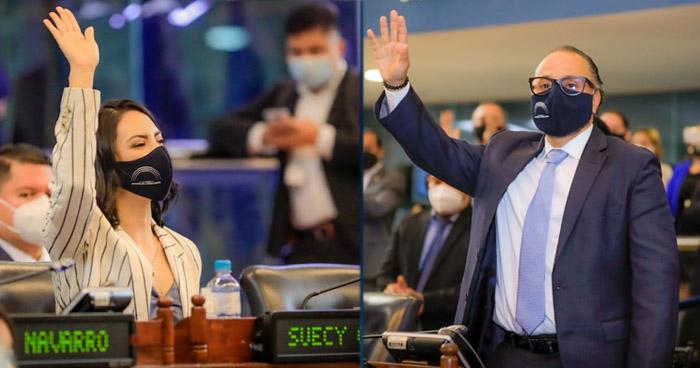 Ernesto Castro y Suecy Callejas electos Presidente y Vicepresidenta de la Asamblea