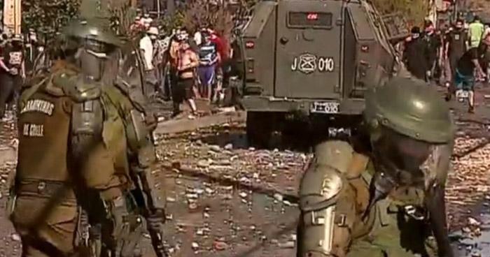Violentas protestas en Chile a pesar del confinamiento por la pandemia COVID-19