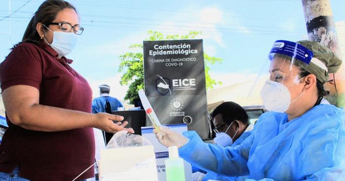 Realizan pruebas PCR para detectar COVID-19 en Tenancingo, Cuscatlán