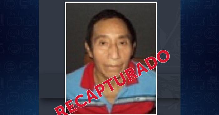 Recapturan a reo que se fugó en 2018 de la Granja Penitenciaria de Zacatecoluca