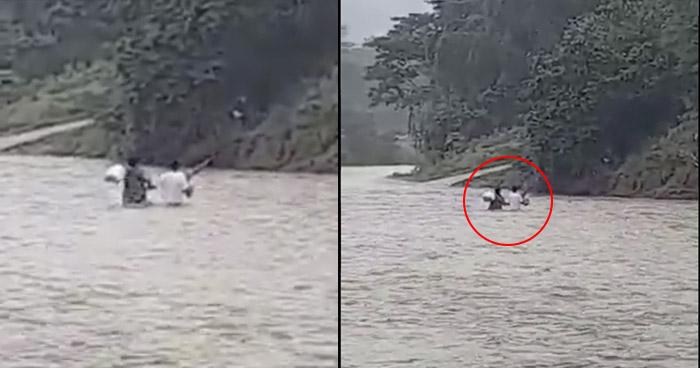 Ignoran advertencia de socorristas y cruzan río Grande, en San Miguel