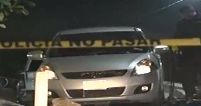 División de explosivos inspeccionó vehículo abandonado en colonia Miramonte