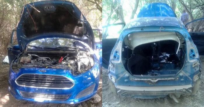 Encuentran vivienda donde desmantelaban vehículos robados en Sonsonate