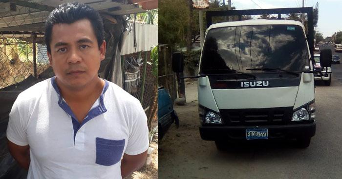 Arrestan a sujeto luego que se robara un camión, propiedad de una empresa